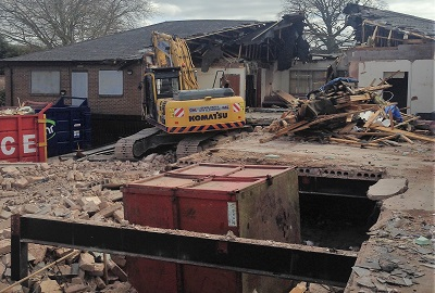 Demolition of Bewdley Medical Centre