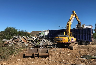 Demolition & Site clearance works, old redundant buildings